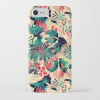 jungle iPhone & iPod Cases featuring Jungle by Demi Goutte