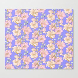 tropical pastels Canvas Print