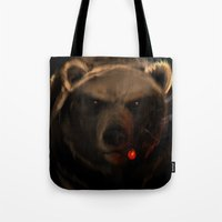 starcraft Tote Bags featuring Smoking Bear by Rookzer0