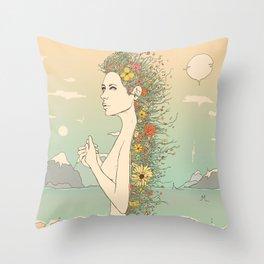 Facade of Existence (Let Life Blossom) Throw Pillow