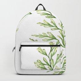 Fern Leaf Watercolor Painting Backpack