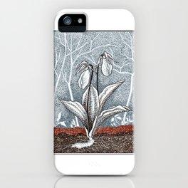Lady Slipper Botanical iPhone Case