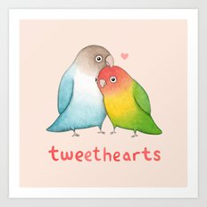 Tweethearts Art Print