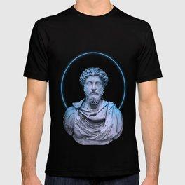 Marcus Aurelius Minimalist Neon T-shirt