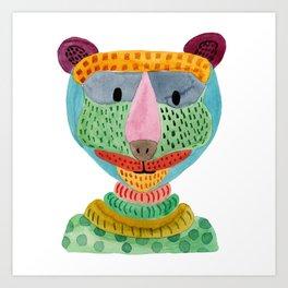 Cute Bear Watecolor Art Print
