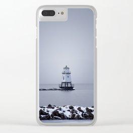 Burlington Breakwater North Lighthouse Clear iPhone Case