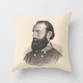 Lieutenant General Stonewall Jackson Portrait Throw Pillow