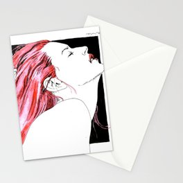 hair in rose Stationery Cards