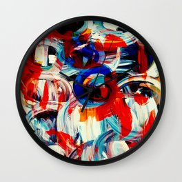 Abstract Action American Painting Wall Clock