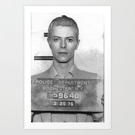 David Bowie Mugshot Art Print