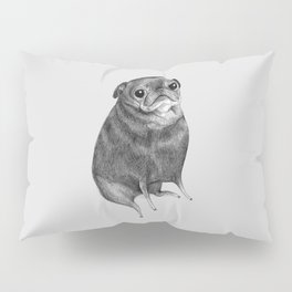 Sweet Black Pug Pillow Sham