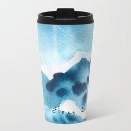 Mountain blue Travel Mug