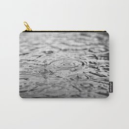 Black and white raindrops Carry-All Pouch