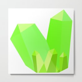Gorgeous Green Gems Metal Print