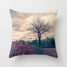 Japanese Mountains Throw Pillow