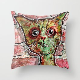 Chester the zombie cat Throw Pillow