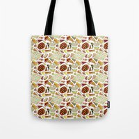 pizza Tote Bags featuring Pizza by nerdwaffles