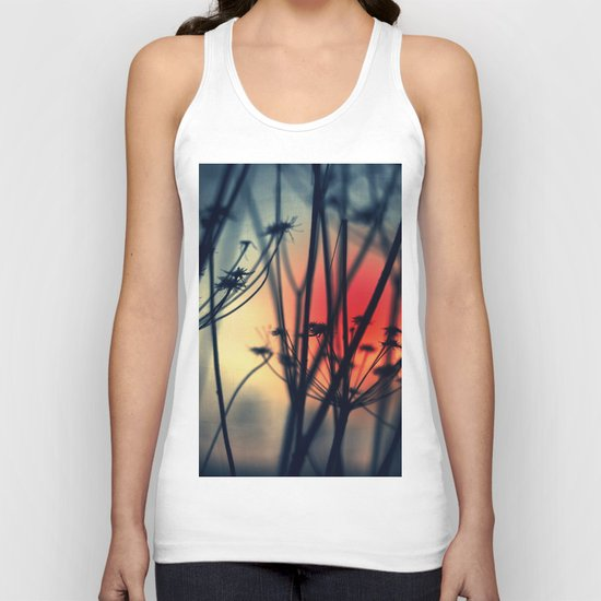 Shapes - dry weeds at sunrise Unisex Tank Top
