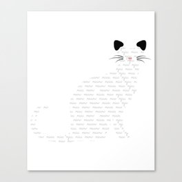 Multilingual cat  Canvas Print