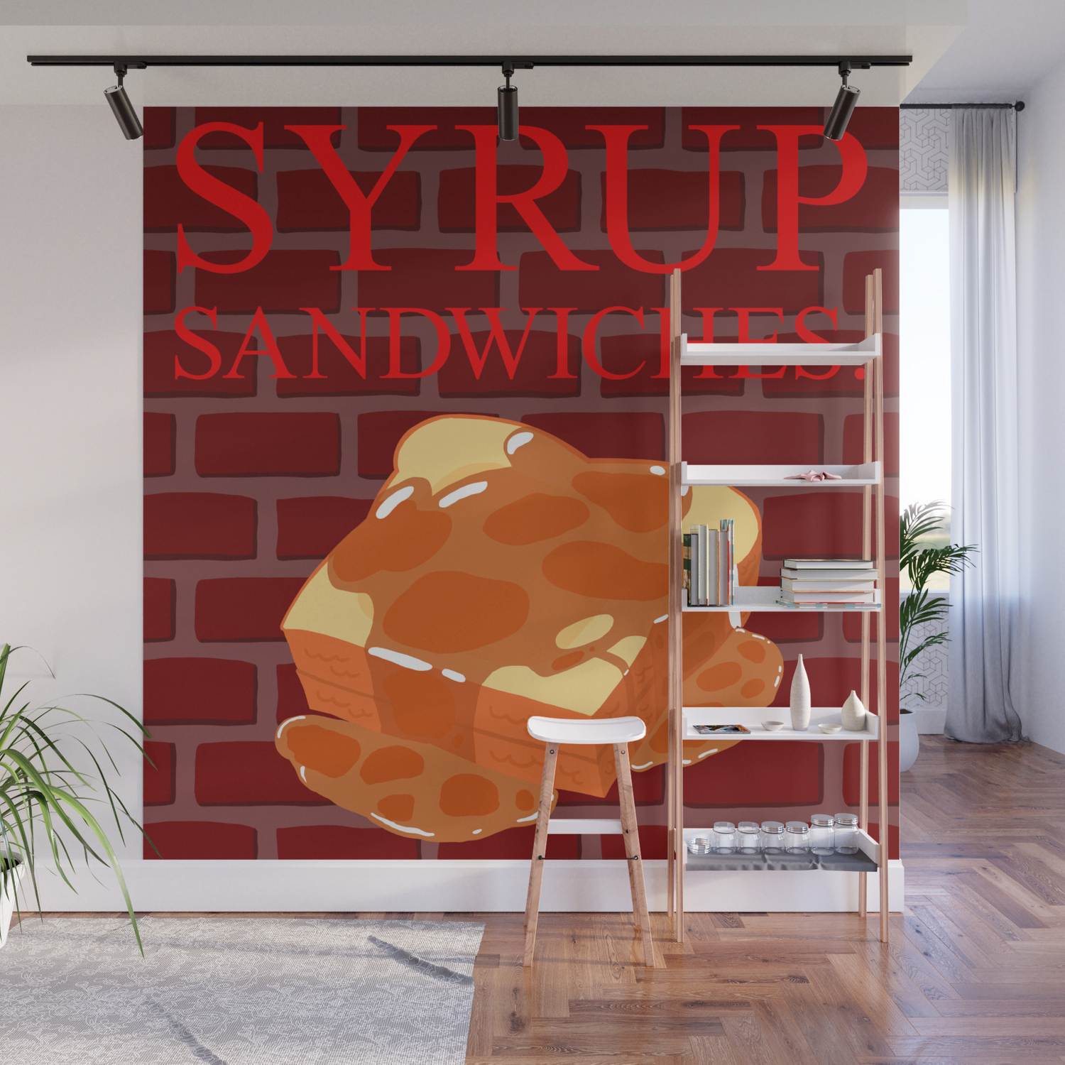 Syrup Sandwiches Wall Mural By Nerdwaffles Society6 Feel free to substitute your favorite bread. syrup sandwiches wall mural by nerdwaffles