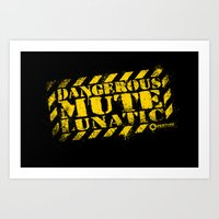 glados Art Prints featuring Dangerous Mute Lunatic by R-evolution GFX
