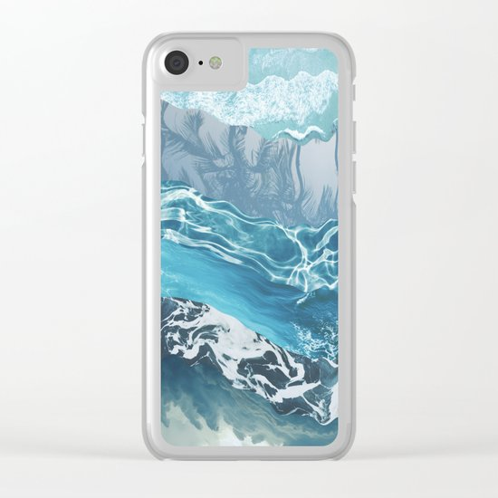 Sea abstract Clear iPhone Case