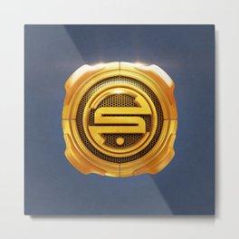 Golden S 3D Emblem Metal Print