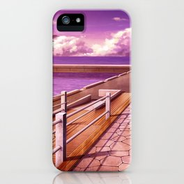 Lovely Seashore Park Anime Scenery Ultra High Definition iPhone Case