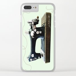 Stitches and Work Clear iPhone Case