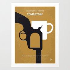 No596 My Tombstone minimal movie poster Art Print