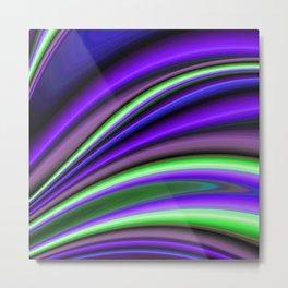 Abstract Fractal Colorways 01PL Metal Print