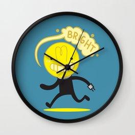Bright Bulb Wall Clock