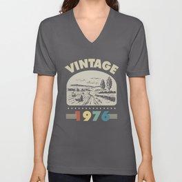 Birthday Gift Vintage 1976 Classic Unisex V-Neck