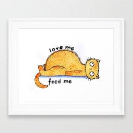 love me, feed me Framed Art Print