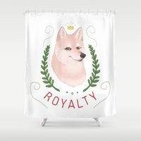 shiba Shower Curtains featuring Shiba Royalty by Alison Galarza