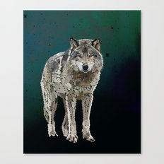 WOLF: THE SILVER HUNTER Canvas Print
