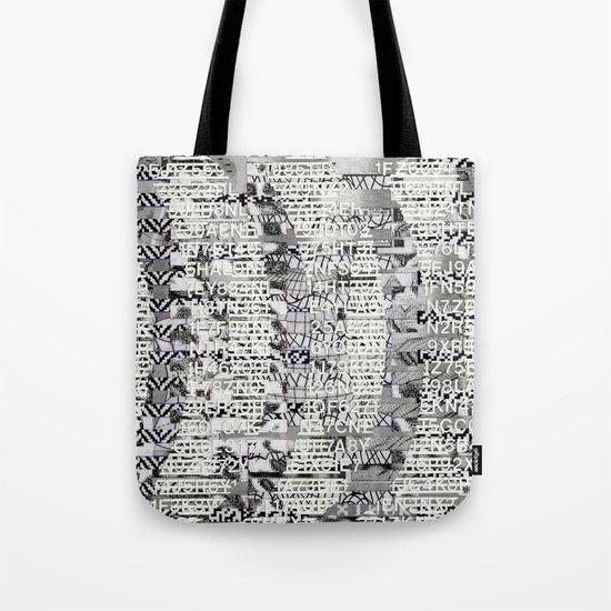 The Eternal Return Of The Unique Event (P/D3 Glitch Collage Studies) Tote Bag