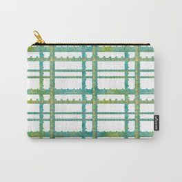 Pretty Text Based Tartan Print - Love Carry-All Pouch