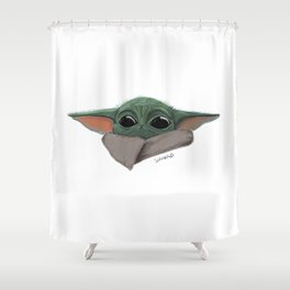 Alien kitty Shower Curtain
