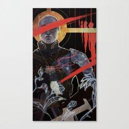 Justice tarot card Canvas Print