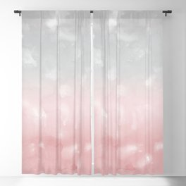 Touching Blush Gray Abstract Painting #1 #ink #decor #art #society6 Blackout Curtain