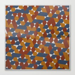 Red-Blue-Orange Canvas Print