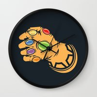 thanos Wall Clocks featuring To Infinity And Beyond! by Remix Comix