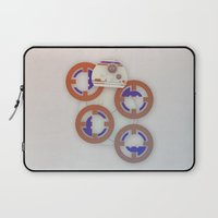 starwars Laptop Sleeves featuring StarWars BB8 by Joshua A. Biron