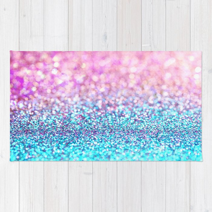 Pastel Sparkle- Photograph Of Pink And Turquoise Glitter