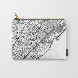 BARCELONA SPAIN BLACK CITY STREET MAP ART Carry-All Pouch