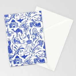 Arabian Nights // China Blue Stationery Cards