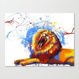 Lion Yawn Canvas Print