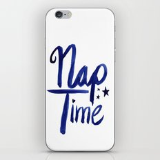 Nap Time | Lazy Sleep Typography iPhone & iPod Skin
