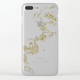 Golden Flow Clear iPhone Case